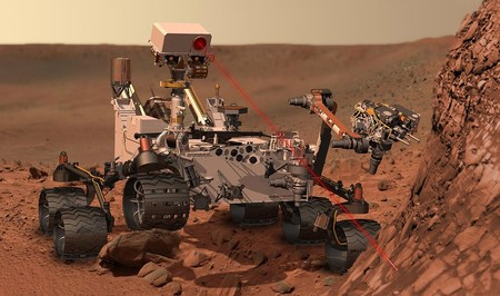 Curiosity At Work On Mars Artist S Concept
