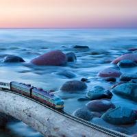 Un alucinante viaje en un tren (de juguete) para cruzar Canadá de costa a costa