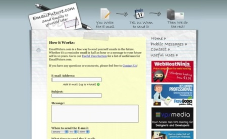 Emailfuture.com, prográmate el envío de un e-mail en el futuro