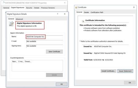 Asus Certifcado Malware