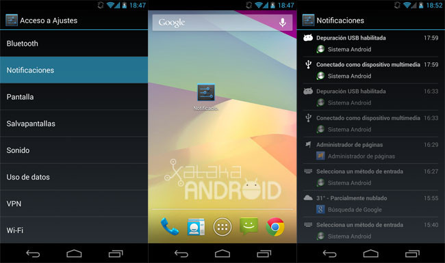 Notificaciones en Android 4.3 (Jelly Bean)