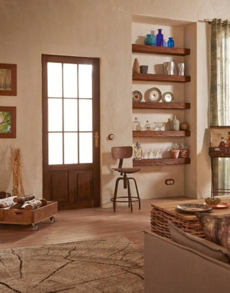 Rústico y natural: la madera, los motivos vegetales y los colores del otoño son tendencia