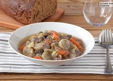 Estofado de ternera con verduras. Receta saludable