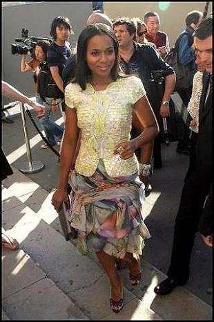 Kerry Washington, guapísima en el desfile de Armani Privé Alta Costura Invierno 2008