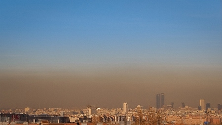 La boina de contaminación de Madrid