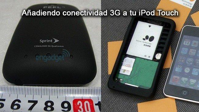 Añadir conectividad 3G al iPod Touch