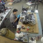 Reparación Yamaha YZF-R1 en timelapse