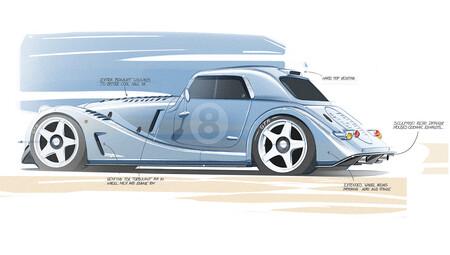 Morgan Plus 8 GTR 2021, primeros bocetos