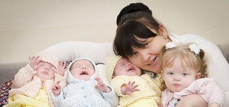 Una mujer da a luz a cuatro hijos en apenas 11 meses