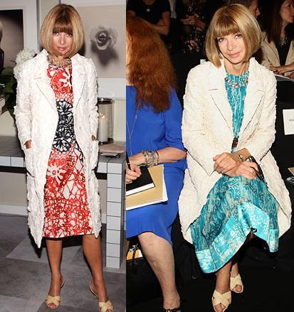 La obsesión de Anna Wintour: el abrigo blanco