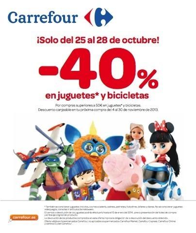 Carrefour lanza su campaña de descuento en juguetes y bicicletas