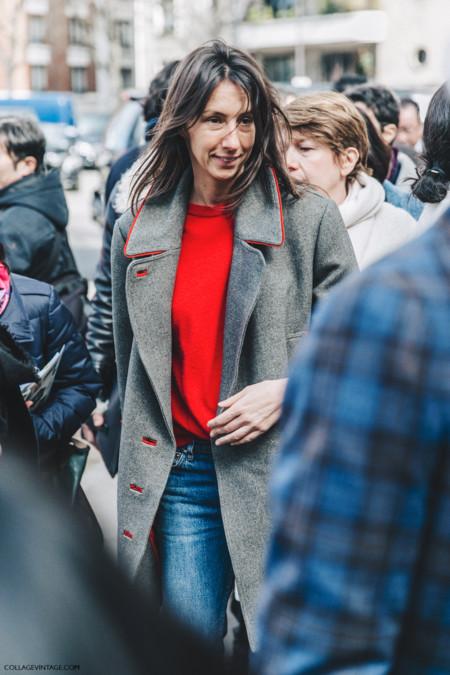 Pfw Paris Fashion Week Fall 2016 Street Style Collage Vintage Geraldine Saglio
