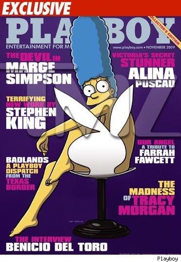 Marge Simpson se desnuda en Playboy