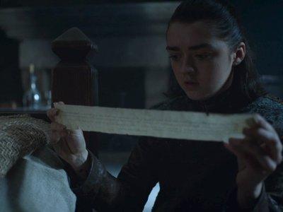 'Juego de Tronos' 7x05: qué dice la carta que encuentra Arya y por qué es importante