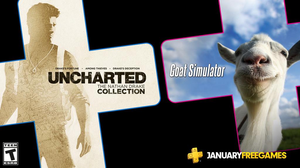 Uncharted: The Nathan Drake Collection y Goat Simulator entre los juegos de PlayStation Plus de enero de 2020