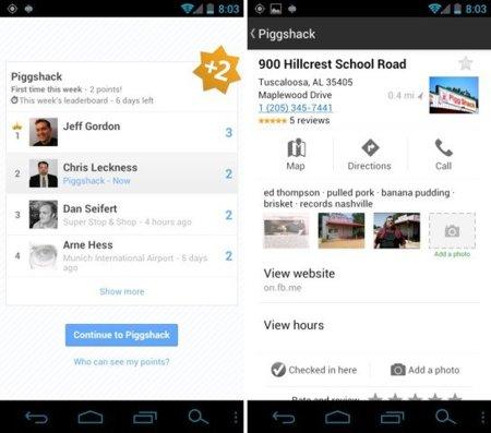 Google añade funcionalidades a Latitude con la vista puesta en Foursquare
