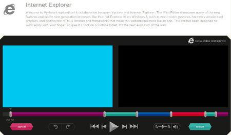 Vyclone, edición de vídeo a un toque desde la web