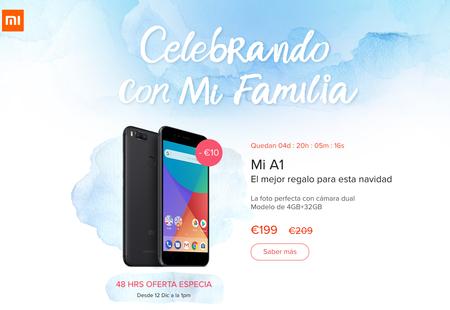 Xiaomi Mi A1 Android One por sólo 199 euros en la web oficial por tiempo limitado