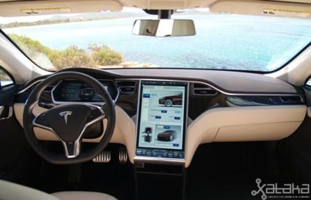 Tesla Model S prueba en Ibiza, salpicadero