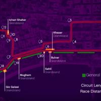Regresa el GP de Europa con el circuito callejero de Bakú, así será su trazado
