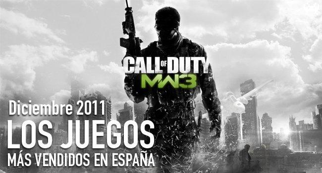 Los juegos más vendidos en España en Dicembre 2011