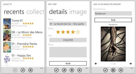 Collecto para Windows Phone 7, organiza tus colecciones