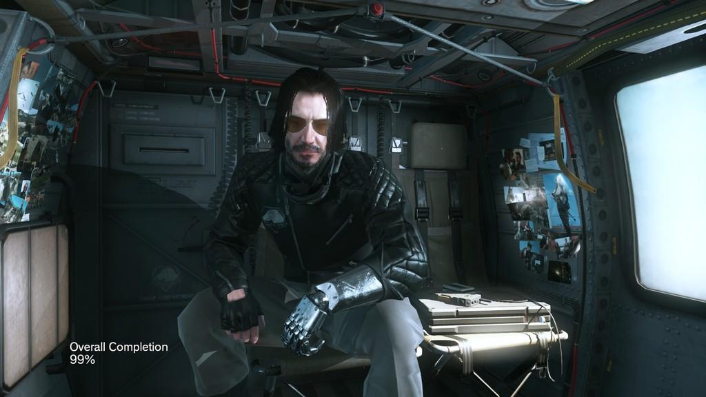 Keanu Reeves en Metal Gear Solid 5: ya puedes jugar como John Wick o Johnny Silverhand de Cyberpubk 2077 gracias a este mod