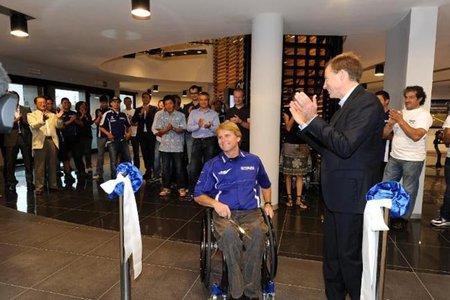 Wayne Rainey visitó las instalaciones de Yamaha en Italia