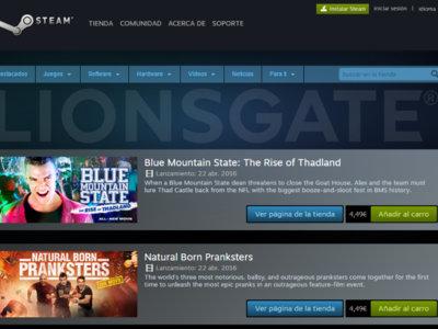 Steam venderá cerca de 100 películas como Saw o Los Juegos del Hambre tras un acuerdo con Lionsgate