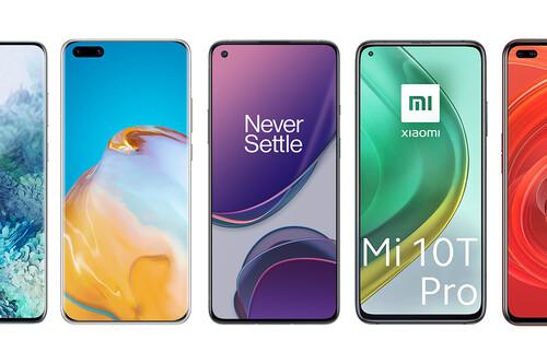 OnePlus 8T, así queda frente a Xiaomi Mi 10T Pro, Poco F2 Pro, Galaxy S20+ y resto de gama alta Android