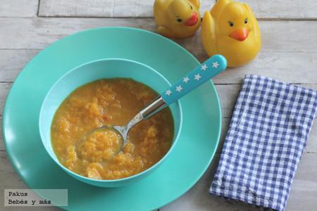 Puré de calabaza y zanahoria. Receta sencilla para bebés