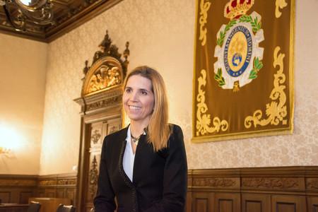 Nuria Rodríguez en el día de su nombramiento como Académica de la RAI