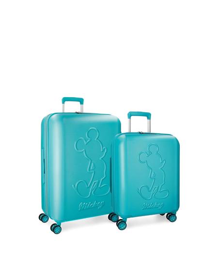 Juego de maletas (mediana y grande) Mickey Premium rígidas con capacidad de 115