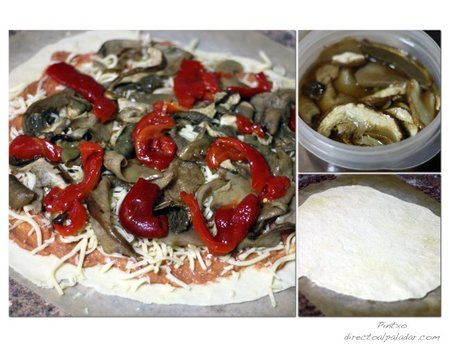 Pizza boletus