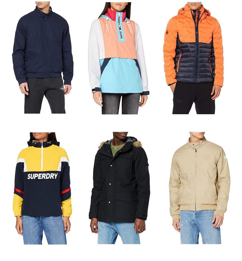 Chollos en tallas sueltas de chaquetas y cazadoras  Superdry, Tommy Hilfiger o Quiksilver a la venta en Amazon