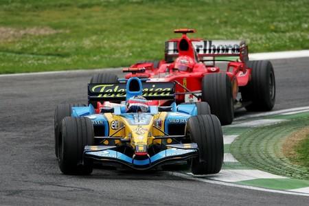 Alonso Schumacher Imola F1 2005