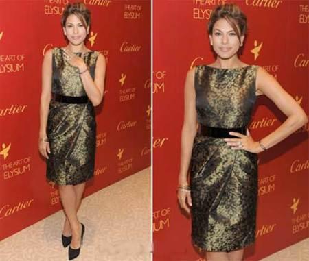 Eva Mendes deslumbra en el evento de Cartier