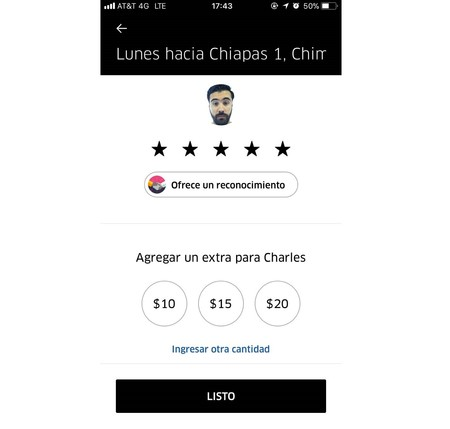 Uber Mexico Propinas