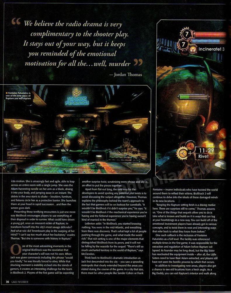 Foto de 'Bioshock 2': scans revista (10/11)