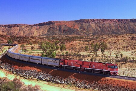 The Ghan Train In Central Australia In 2012