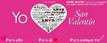 Gastos de envío gratis hasta el 5 de febrero para regalos de San Valentín en 'El Corte Inglés'