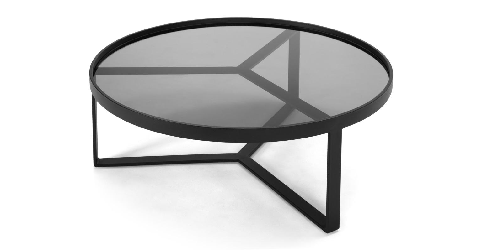Mesa de centro Aula, negro y gris