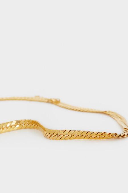 Collar Cadena Acero Dorado