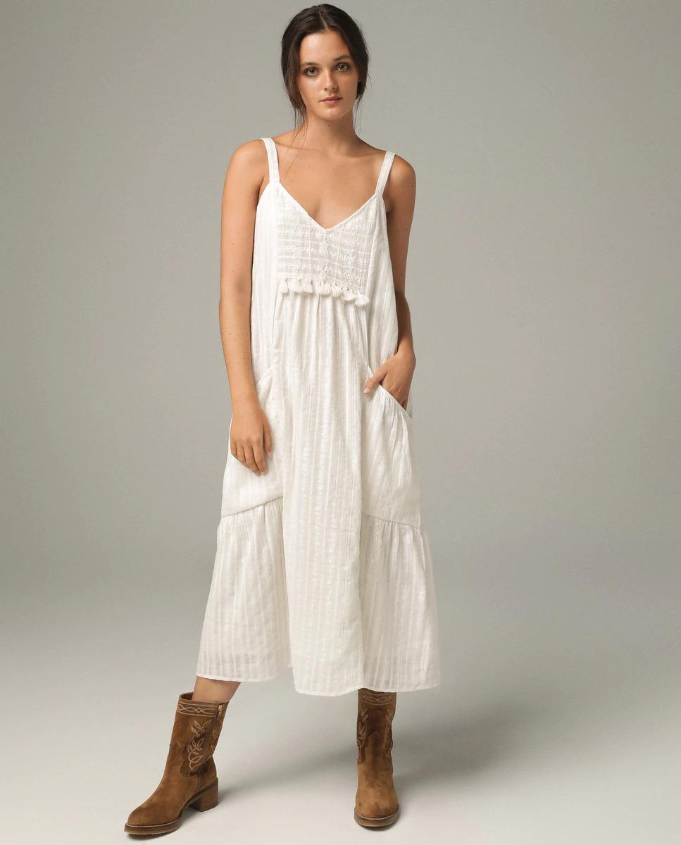 Vestido de tirantes en color blanco de Tintoretto
