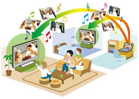 DLNA imagen salón digital