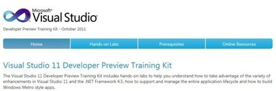 Visual Studio 11 Developer Preview Training Kit