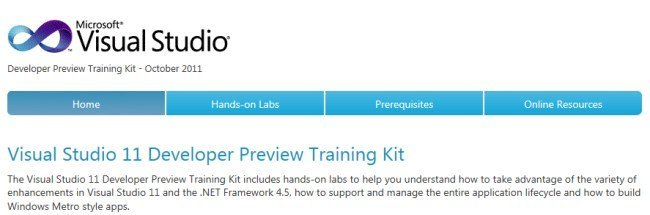 Visual Studio 11 Developer Preview Training Kit