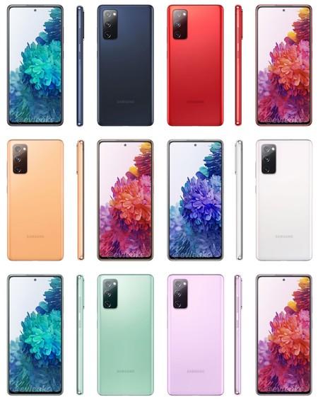 La filtración del Samsung Galaxy S20 Fan Edition presenta seis colores