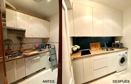 Antes y después; una pequeña cocina con mucho estilo gracias a la reforma de Decoryver
