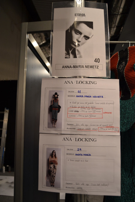 Ficha Anna-Maria Nemetz backstage Ana Locking Mercedes-Benz Fashion Week Madrid Otoño-Invierno 2014/2015